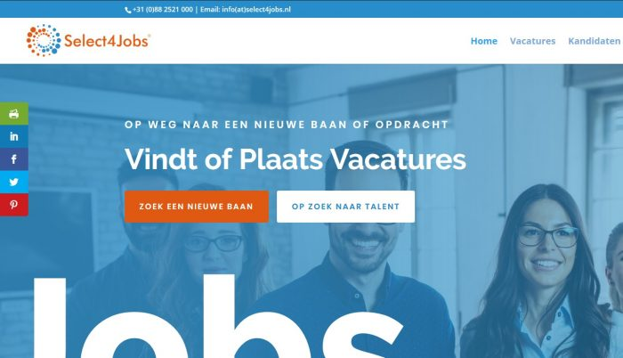 Nieuwe website Select4Jobs